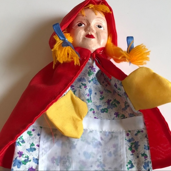 Vintage Red Riding Hood Puppet Toy